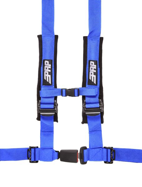 PRP 4 point harness with auto latch, blue