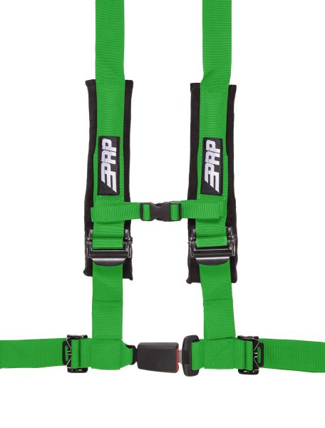 PRP 4 point harness with auto latch, green