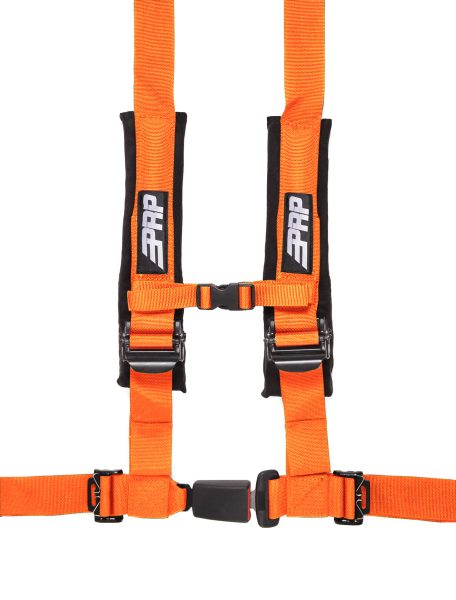 PRP 4 point harness with auto latch, orange