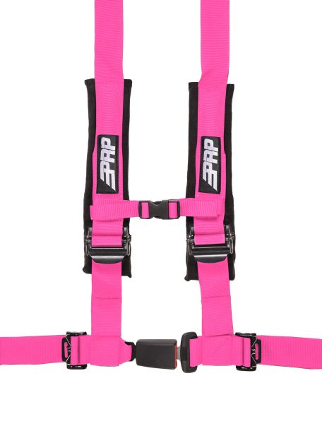 PRP 4 point harness with auto latch, pink