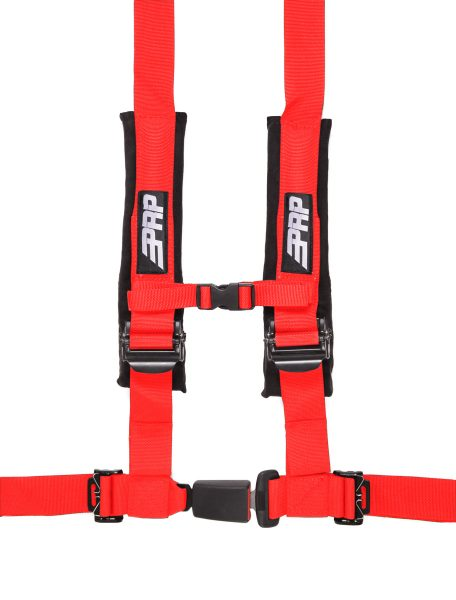 PRP 4 point harness with auto latch, red