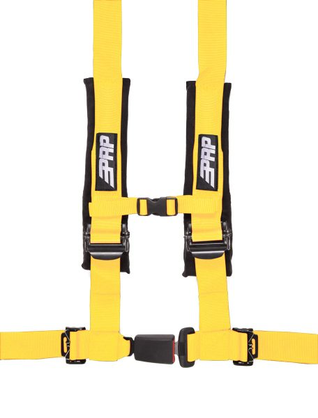 PRP 4 point harness with auto latch, yellow