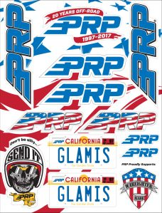PRP 20 years sticker sheet
