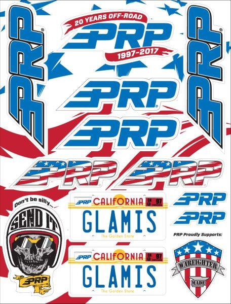PRP 20 years sticker sheet