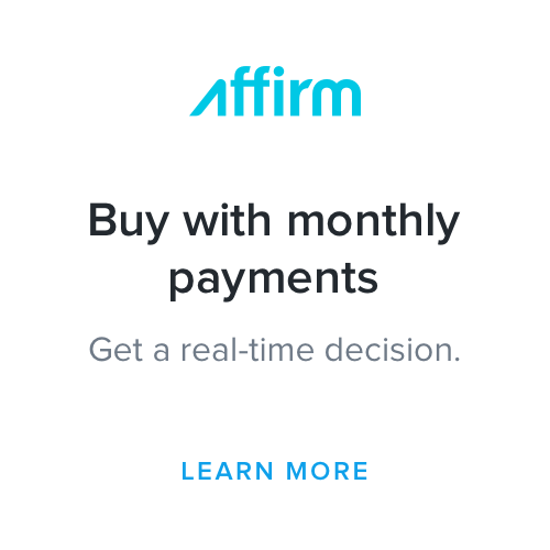 Buy with monthly payments through Affirm