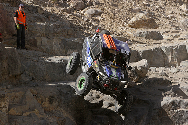 Maddie dropping down Backdoor during King of the Hammers