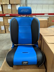 Daytona blue Enduro Recliner seat with adjustable headrest in Warehouse Deals