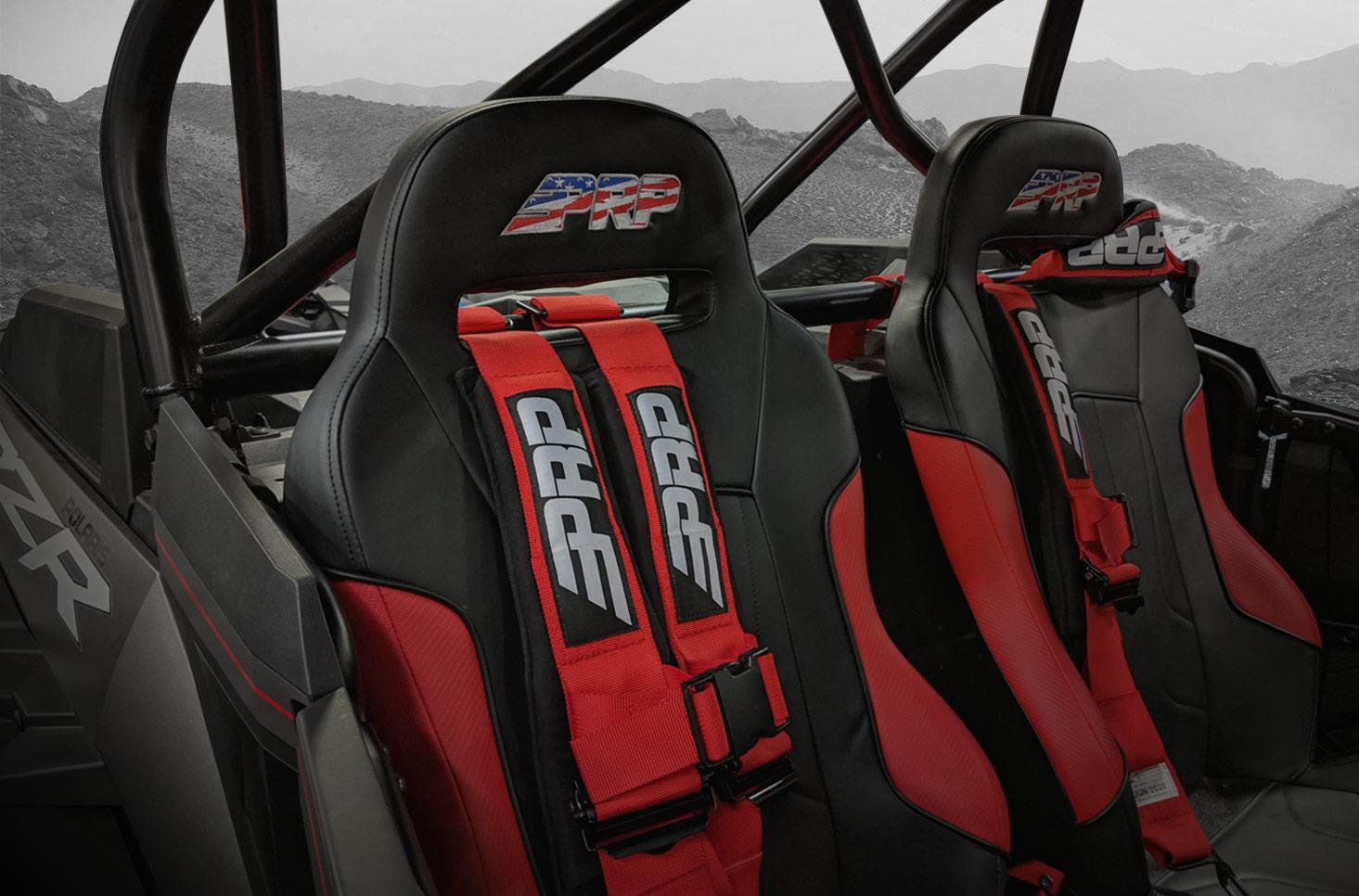 RZR XC Seats - With New Glory Logo