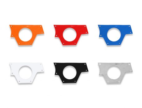 Right side media panel for Polaris RZR XP 1000 in orange, red, blue, white, black and raw color options