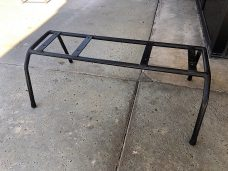 Bench Seat Display Stand Tube Frame - Top Angled View