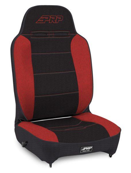 Enduro High Back - Black and Red