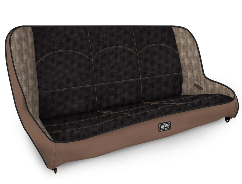 Rear Bench for Jeep TJ in Black and Tan