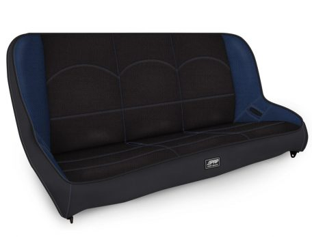 Rear Bench for Jeep TJ in Black and Blue