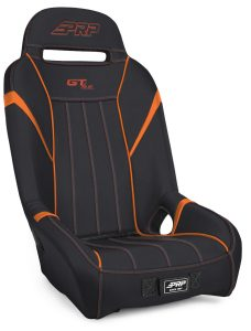 1 inch, Extra Wide GTSE Suspension Seat in Black and Orange