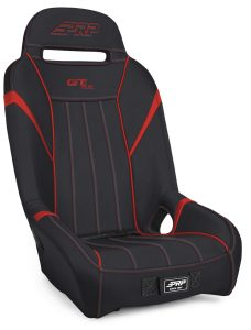 1 inch, Extra Wide GTSE Suspension Seat in Black and Red