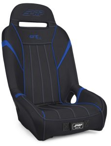 1 inch, Extra Wide GTSE Suspension Seat in Black and Blue