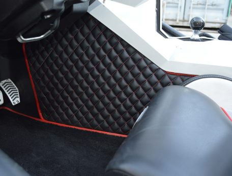 Insulated transmission tunnel pad for Polaris Slingshot