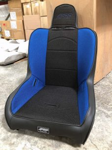 Premier High Back Extra Wide, two-neck slots in Black and Blue