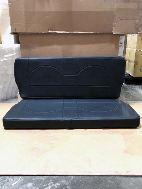 Black rear bench for a buggy manx