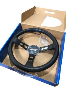 Deep Dish Blue Trim Leather Steering Wheel