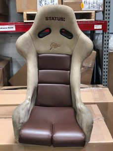 Brown and Tan Suede Status Ring Seat
