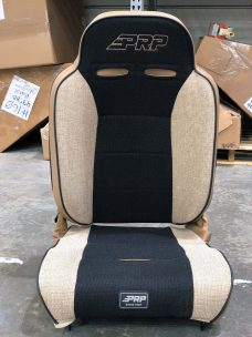 Tan tweed and black Enduro High Back Recliner Seat