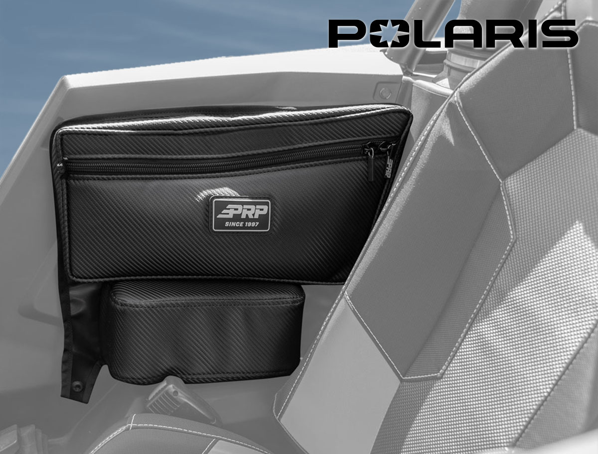 Polaris storage bag in UTV