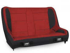 Elite Series Rear Bench for CJ7-YJ - Black and Red