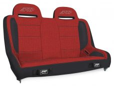 Elite Series Rear Bench for Jeep JKU - Black and Red