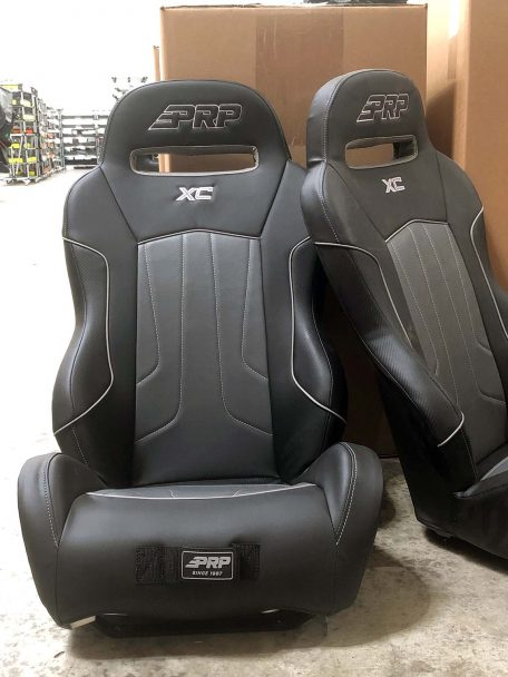 Black and Grey XC Seats with Wolverine Mount