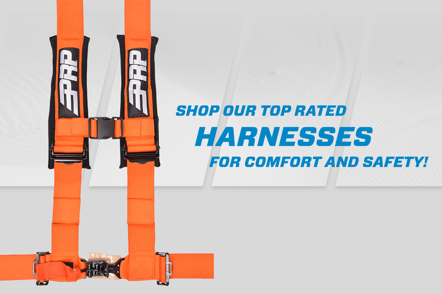 Orange Harness with Grey PRP Speed background