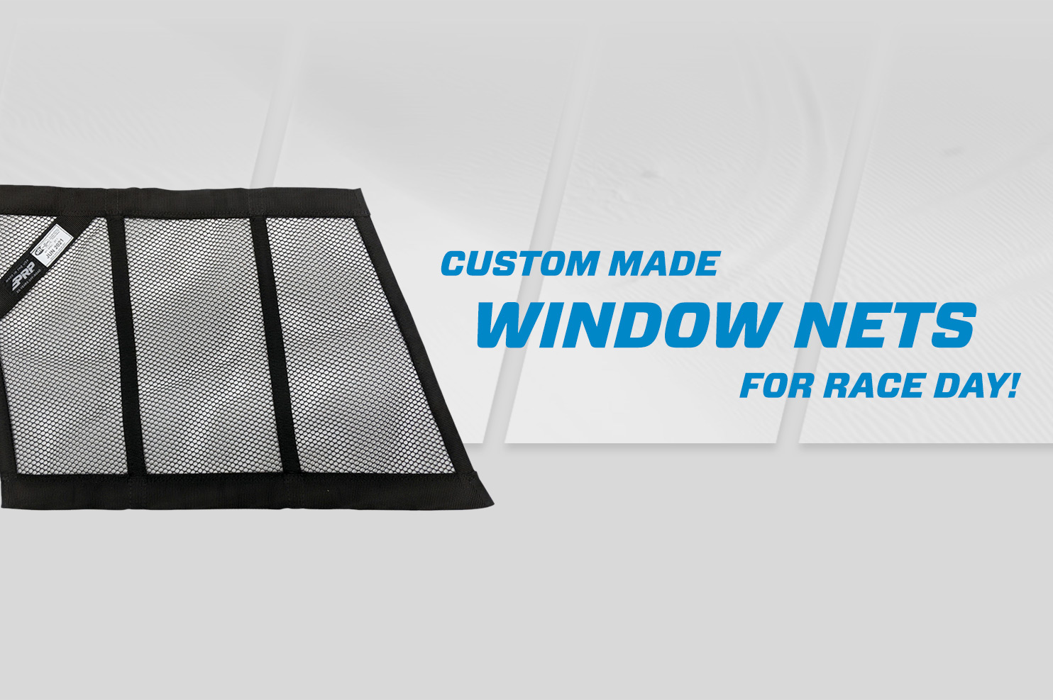 Window nets on prp speed grey background