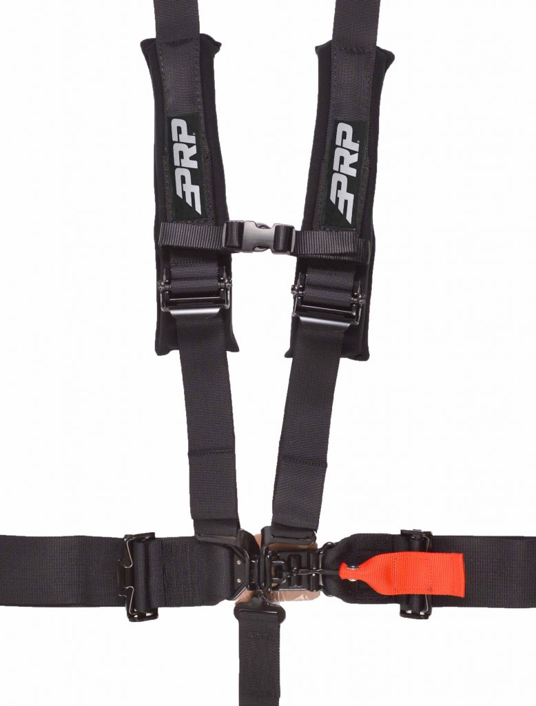 "5 point harness with 3"" lap belt and 2"" shoulder belts."
