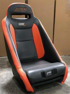 Black and Orange Comp UTV Seat Single Warehouse Deals CSS-371
