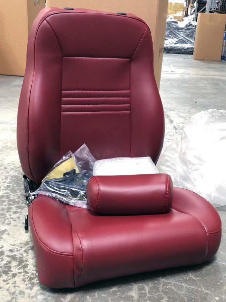 All Crimson Red Spec Recliner Seat Passenger Side Warehouse Deal CSS-375