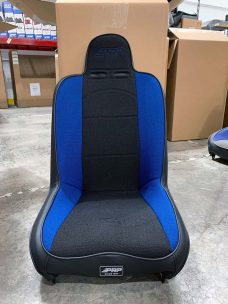 CSS-401 High Back RZR 1000 Seat Single in Blue and Black Tweed