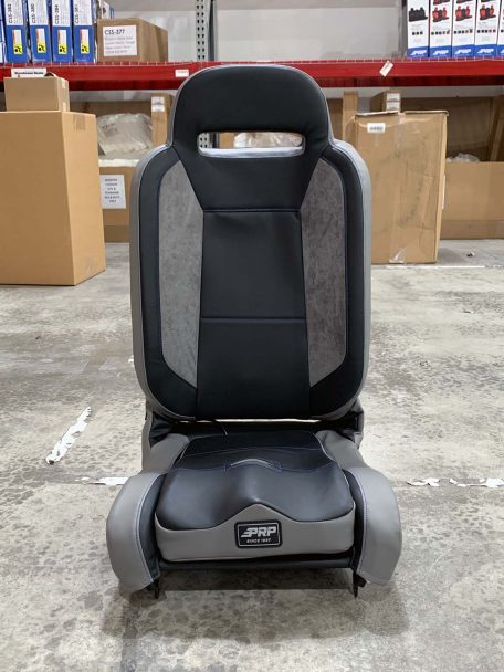 Warehouse Deal CSS-418 - Black and Grey Suede Enduro Elite Seat