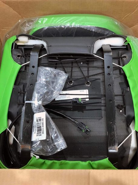 Warehouse Deals Seats CSS-434 Black and Green XC Seat - Bottom angle view