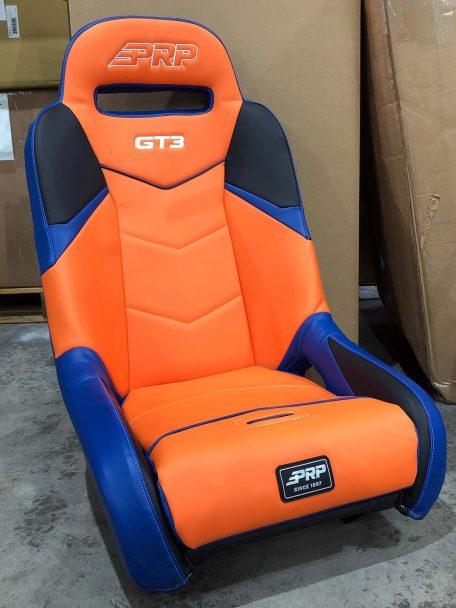 CSS 452 Orange, Blue and Navy RZR 1000 GT3 Seat
