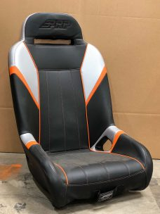 CSS 455 CF Silver, Black and Orange Piping Extra Wide RZR 1000 GTSE Seat