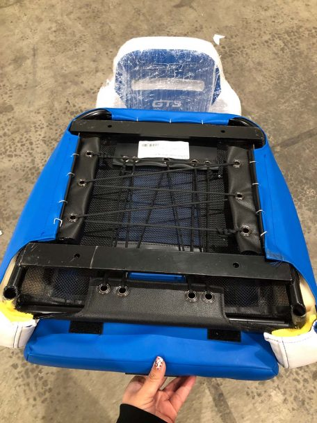 CSS 463 Bottom View showing flat straps of the GT3 PRO XP Seat