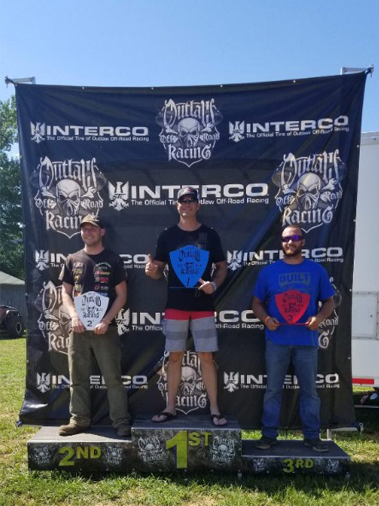 Winners Podium at Outlaw Off Road Racing in Cass, AR