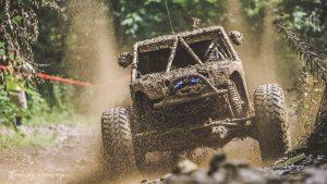 Muddy Buggy on Dirt Track