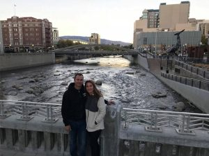 Derek West and Ashley West in Front of River