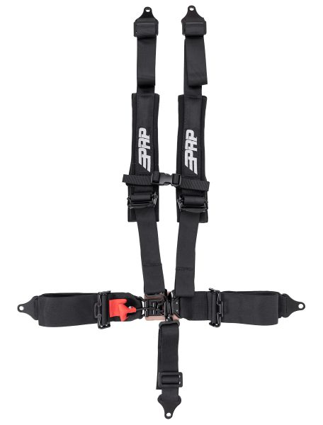 PRP 5 point harness with 3 inch lap and 2 inch shoulder straps.
