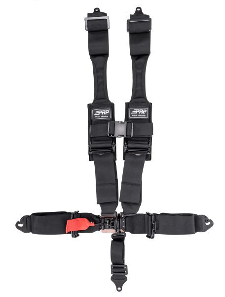 PRP 5 point harness with HANS compatible shoulder straps and clip in lap belts