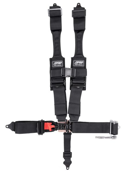 PRP 5.3 Harness with HANS shoulders and ratcheting lap belt