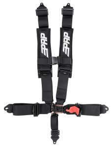 PRP 5 point, 3 inch harness with clip in lap belt