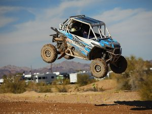 Callahan RZR about to land from a jump