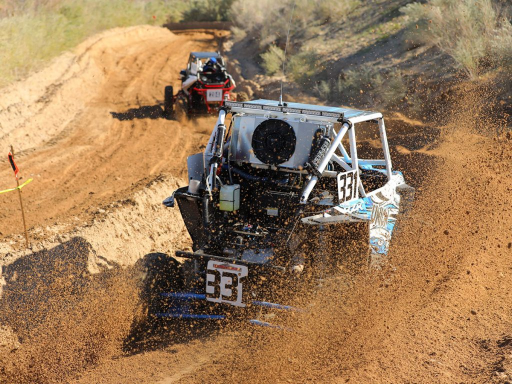 Callahan RZR racing through dirt